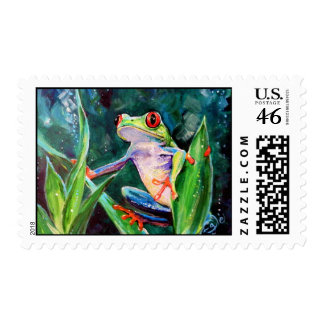 Costa Rica Tree Frog Postage Stamp