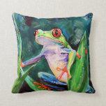 Costa Rica Tree Frog Throw Pillow