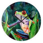 Costa Rica Tree Frog Wallclocks