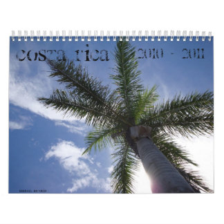 Costa Rica Tropical Calendar 2010 - 2011