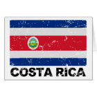 Costa Rica Vintage Flag Card