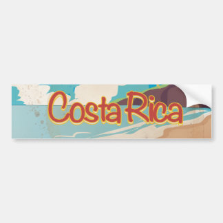 Costa Rica Vintage Travel Poster Bumper Sticker