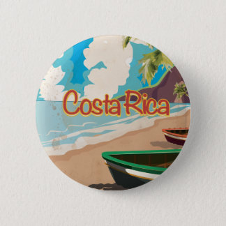 Costa Rica Vintage Travel Poster Button