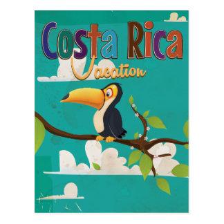 Costa Rica Vintage Travel Poster Postcard