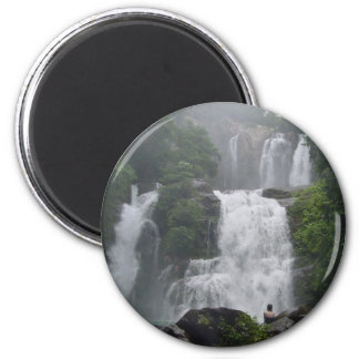 Costa Rica Waterfalls 2 Inch Round Magnet