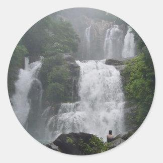 Costa Rica Waterfalls Classic Round Sticker
