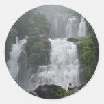 Costa Rica Waterfalls Round Sticker