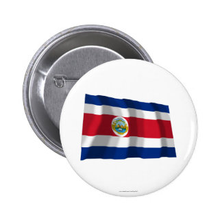 Costa Rica Waving Flag Button