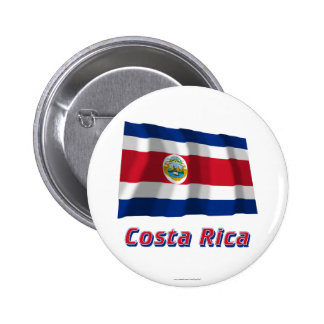 Costa Rica Waving Flag with Name Button