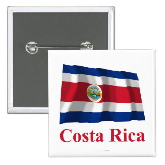 Costa Rica Waving Flag with Name Pin