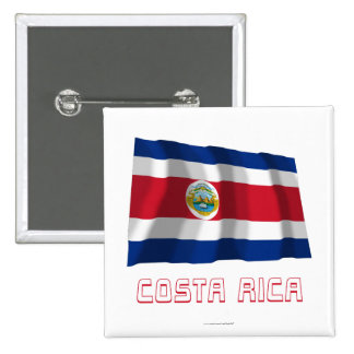 Costa Rica Waving Flag with Name Pins