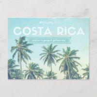 Costa Rica Wedding Tropical Beach Save the Dates Announcement Postcard