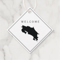 Costa Rica Welcome Bag Gift Tag, Wedding Weekend Favor Tags