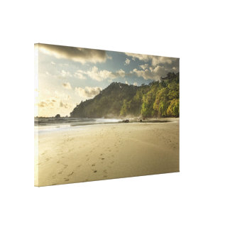 Costa Rican Beach at Sunset Gallery Wrap Canvas