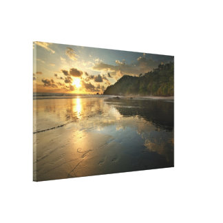 Costa Rican Beach at Sunset Gallery Wrapped Canvas