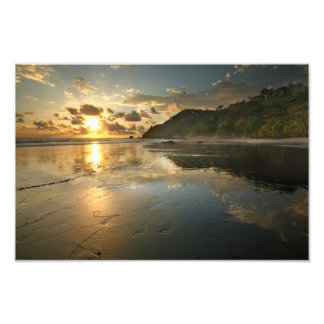 Costa Rican Beach at Sunset Photograph
