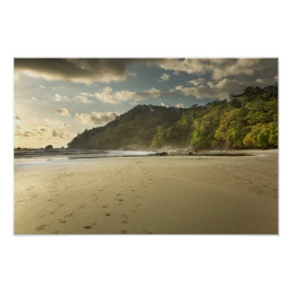 Costa Rican Beach at Sunset Poster