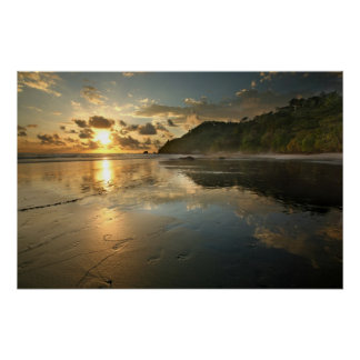Costa Rican Beach at Sunset Posters