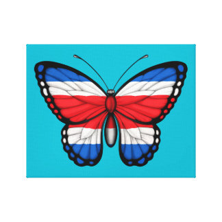 Costa Rican Butterfly Flag Gallery Wrapped Canvas