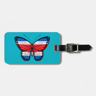 Costa Rican Butterfly Flag Travel Bag Tags