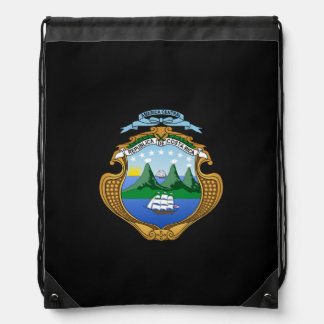 Costa Rican coat of arms Drawstring Backpack