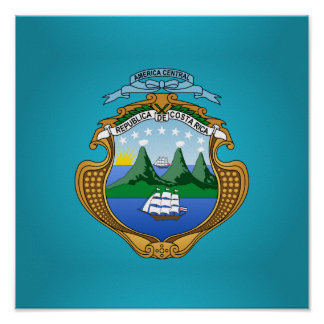 Costa Rican coat of arms Poster