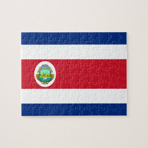 Costa Rican Flag Jigsaw Puzzles
