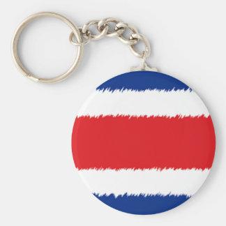 Costa Rican Flag Basic Round Button Keychain