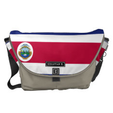 Costa Rican Flag Messenger Bag at Zazzle