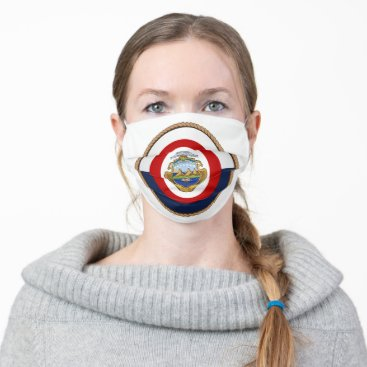 Costa Rican Flag Seal Cloth Face Mask