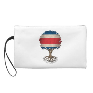 Costa Rican Flag Tree of Life Customizable Wristlet Purses