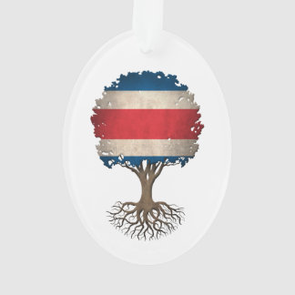 Costa Rican Flag Tree of Life Customizable Ornament