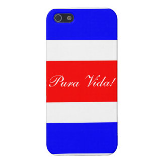 Costa Rican Flag with Pura Vida! Cover For iPhone SE/5/5s