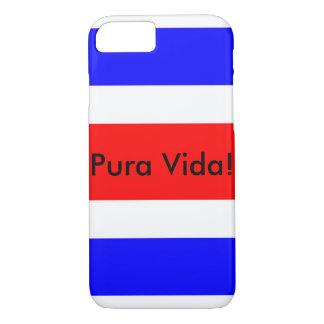 Costa Rican Flag with Pura Vida! iPhone 7 case