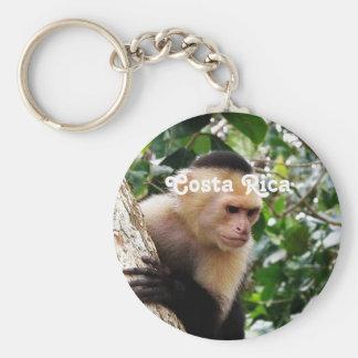 Costa Rican Monkey Basic Round Button Keychain