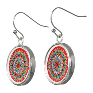 Costa Rican Oxcartwheel Art Earrings