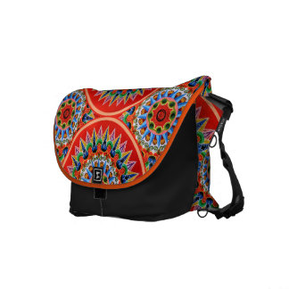 Costa Rican Oxcartwheel Art Messenger Bag