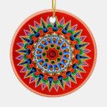 Costa Rican Oxcartwheel Ceramic Ornament