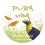 Costa Rican Pura Vida Stickers
