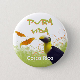Costa Rican Pura Vida Toucan Button