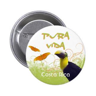 Costa Rican Pura Vida Toucan Button