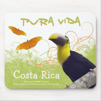 Costa Rican Pura Vida Toucan Mousepad