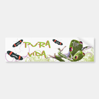 Costa Rican Pura Vida Tree Frog Bumper Sticker