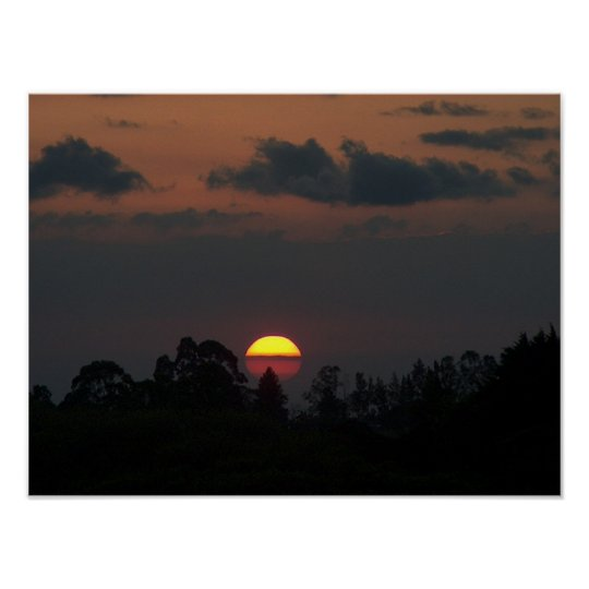 Costa Rican Sunset Poster