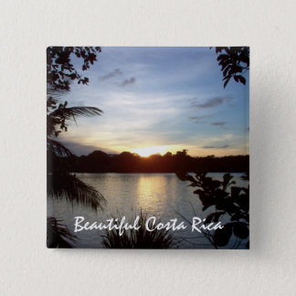 Costa Rican Sunset - Tortuguero Evening Button