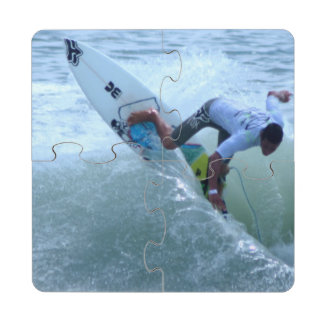 Costa Rican Surfing Puzzle Coaster