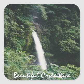 Costa Rican Waterfall - One of Many Square Sticker