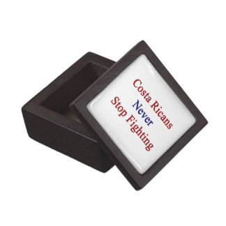 Costa Ricans Never Stop Fighting Premium Jewelry Box