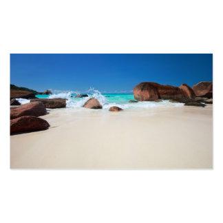 Costa rocosa hermosa en Seychelles Tarjetas De Visita
