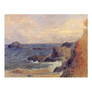 Costa rocosa - Paul Gauguin Postal